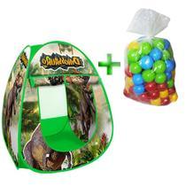 Barraca Toca Infantil Dinossauros Park Com 50 Bolinhas - Dm toys