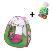 Barraca Toca infantil Piquenique das Princesas com 50 bolinhas - Dm Toys