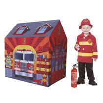 Barraca Toca Infantil Portátil Casa Estacao Bombeiro Grande - Dm Toys