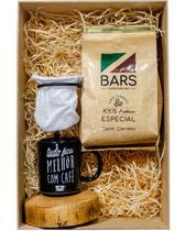 BARS Cesta Presente 01 - 01Café Moído+Mini Coador+01Caneca - Bars Cafés Especiais