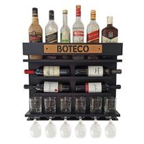 Barzinho Adega Parede - Boteco - 60 x 51 Preto - Co2Beer