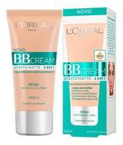 Base BB Cream L'Oréal Efeito Matte 5 em 1 Média FPS50 - Loreal
