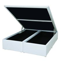 Base Box 39cmx158cmx198cm com Baú Courino Queen Ortobom Branco