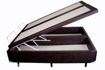 Base Box Baú Bipartido Queen Sommier Moflex Sintético Marrom 46x158x198 -