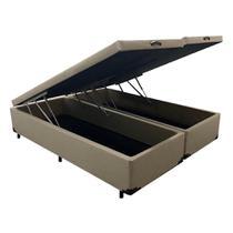 Base Box Baú Queen Bipartido Plus Alpha 44X158X198 Verde - V-Store