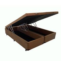 Base  Box Baú Queen Bipartido Plus Suede 44X157X198 - V-Store