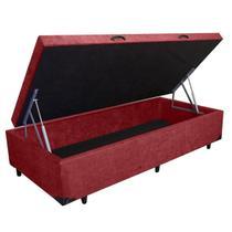Base Box Baú Solteiro SP Móveis Suede Vinho - 45x88x188 -