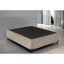 Base Box Casal - Suede Bege 40x138x188 - Bello Box
