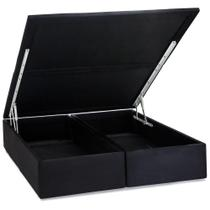 base box queen baú physical  158x198x39 cm preto - Colchões ortobom