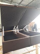 Base Cama Box Bau Queen Bi Partido 158x198x40 - Bl Box