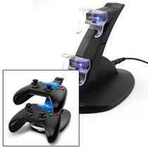 Base Carregador Controle Duplo Usb Dock Para Xbox One - Rpc