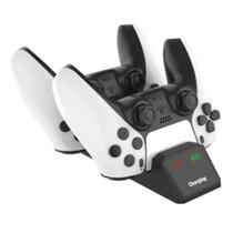 Base Carregador Controle Video Game Compativel Ps5 Dupla Dualsense Led Marca - P5 - DACAR