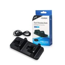 Base Carregador Duplo Dock Charge P Controle Playstation Ps4 Dobe Preto -