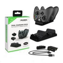 Base Carregamento 2 Controle Xbox One Dock Dobe + 2 Baterias -