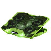 Base Cooler Warrior Gamer Para Notebook LED Verde AC292 Multilaser -