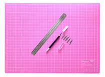 Base Corte A2 60x45 Régua Inox 30cm Estilete De Precisão - Lanmax