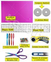 Base Corte A2 60x45 Regua Laser 15x60 + 15x30 + Cortador 45 - Levolpe