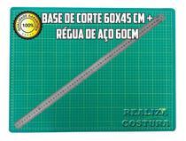 Base De Corte A2 60x45cm Modelo Novo Marcações + Régua 60cm - Realiza Costura