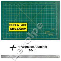 Base De Corte A2 60x45cm + Régua de Metal 60cm Patchwork - Levolpe