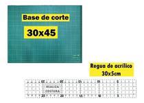 Base De Corte Scrapbook 30cm X 45cm Produt Novo + Regua 30cm - Realiza Costura