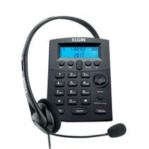 Base Discadora Com Headset Elgin HST800 Display Digital Preto