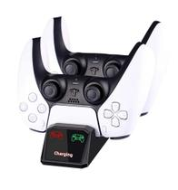 Base Dock Carregador Duplo De Controles Ps5 Compativel Playstation Sony Marca - P5 - Dacar