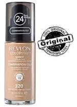 Base líquida colorstay mista / oleosa fps15 revlon - 320 true beige -