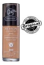 Base líquida colorstay mista / oleosa fps15 revlon - 360 golden caramelo -
