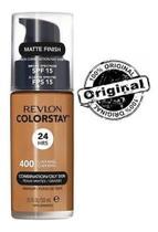 Base líquida colorstay mista / oleosa fps15 revlon - 400 caramel -