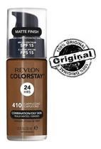 Base líquida colorstay mista / oleosa fps15 revlon - 410 capuccino -