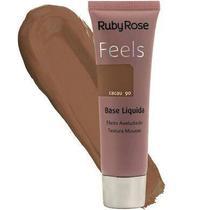 Base liquida feels cacau 90 textura mousse ruby rose -