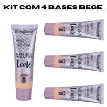 Base líquida Ruby Rose Natural Look Bege 2 ao 8 29ml HB - 8051 -
