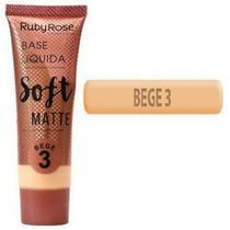 Base líquida soft matte bege 3 - ruby rose -