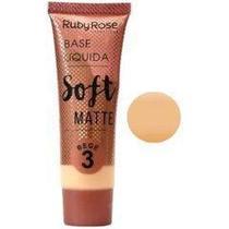 Base liquida soft matte ruby rose bege 3 - hb 8050 -