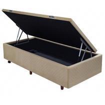 Base P/ Cama Box Com Baú Solteiro Suede Pastel Cristalflex -