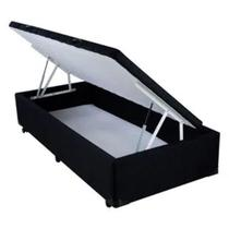 Base para Cama Box Baú Preto Queen  Ecoflex -
