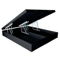 Base para Cama Box Queen Premium com Baú Corino (45x158x198) Preta - Mobly