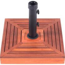 Base para guarda-sol e ombrelone com revestimento em madeira 25 kg - Belfix -