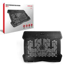 """Base para Notebook C3Plus NBC-01BK, 10"""" até 14"""", Cooler de 140 mm, Preto -"""