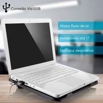 Base Para Notebook Cooler E Led Slim Multilaser Ac263 -