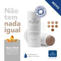 Base Stick Ultradefiniçao Fps 60 bege extra claro dourado Bioage -