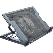 Base Suporte Notebook Multilaser Ac166 Ergonômico Preto Com Cooler De Resfriamento -