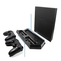 Base Vertical Ps4 + Cooler Carregador de 2 Controles - Importado