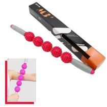 Bastão Com Espinhos Para Massagem Miofascial com 5 bolas Relaxamento Anti Celulite - M3