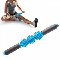 Bastao para Massagem com 3 Bolinhas de Cravo Embutidas Azul Liveup -