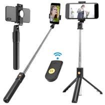 Bastão Pau Selfie Tripe Controle Bluetooth Retrátil Celular - K-10 - K10