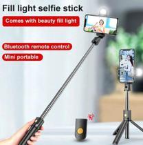 Bastão Pau Selfie Tripe Controle Bluetooth Retrátil Celular - K-10 -