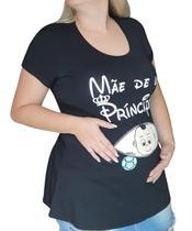 Bata Gestante Plus Size para Ensaio Fotográfico Mãe de um Príncipe ou Princesa - Linda Gestante