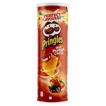Batata Pringles Hot Paprika Chilli 165g- Importada Belgica -