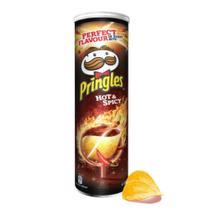 Batata pringles hot  spicy - sabor quente e picante 165g -
